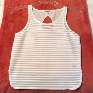 🛍 3/$25 Express white elegant sleeveless top